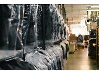 Dry Cleaning Warehouse Looking for experienced operatives and presser