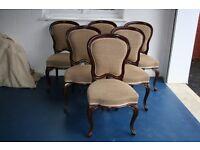 Mahogany Victorian balloon back Dining chairs - set of 6