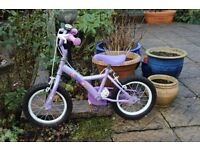 Two wheel bicycle suitable for 3 - 5 year old