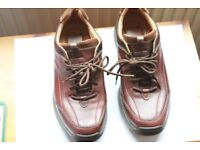 Clarks Brown Mens Shoes with Active Air Vent UK Size 10