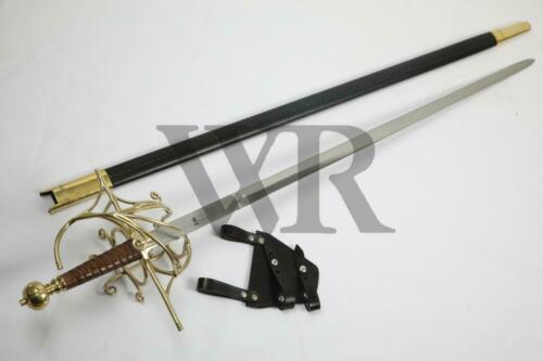 16th Basket Hilt Full Tang Tempered Battle Ready Rapier by Warrior Replicas