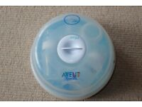Philips AVENT Baby Microwave Steam Compact Bottle Steriliser (includes 3 bottles)