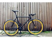 Special offer!!Steel Frame Single speed road bike track bike fixed gear racing fixie bicycle yc
