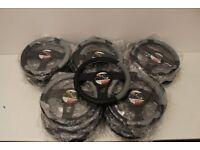 Job Lot of Grey/Black Steering Wheel Covers - 47 Covers