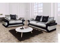 CHEAPEST OFFER** Brand New Dino Crushed Velvet Corner Sofa Or 3 and 2 Seater Sofa Suite