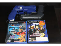 PS2 Light Guns (G-Con2) With Time Crisis 2+3