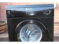 WHITE KNIGHT 5KG WASHING MACHINE IN BLACK AND IN GOOD CLEAN WORKING ORDER CHEAP TO CLEAR