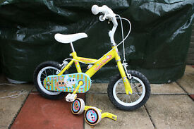 Girl's bike with stabilisers - 12""