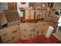 House move boxes & bubblewrap