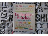 Embroidery stitches book