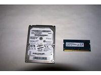 1 TB 2.5 LAPTOP HARDRIVE + 4GB DDR3 1200S