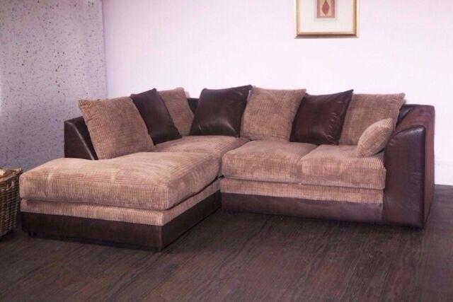 reputable site b7370 e5900 🔥🔥🔥Black Grey Brown & Beige Colours🔥🔥🔥Brand New Dylan Byron Jumbo  Cord Corner Sofa Or 3+2 Sofa | in Greenwich, London | Gumtree