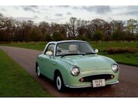 Nissan Figaro, beautiful vintage car for sale Esmerald Green 100.200 miles MOT for a year