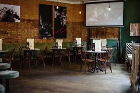 bar and kitchen staff needed for stylish pizza and grill bar.