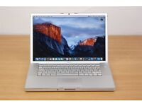Macbook 15 inch Pro Apple mac laptop 4gb ram memory on EL Capitin 10.11 OS in full working order