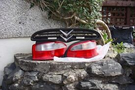saxo 1.4 rear tail light cluster plus front grill
