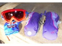 Spiderman Character Ski Goggles Infants Kids Childrens - Free unused Head Mitts - Twins