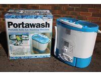 Twin Tub Portable Washing Machine Spin Dryer - Camping / Motorhome / Caravan / Student