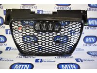 NEW AUDI TTRS GRILL BLACK GLOSS 8J MODEL 2006 - 2014 APPROX FITTING
