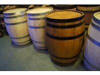 Whiskey Barrels, Wine barrels beer garden pub table flower planters standing table bar table events