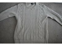 Eggshell Cable Knit Jumper