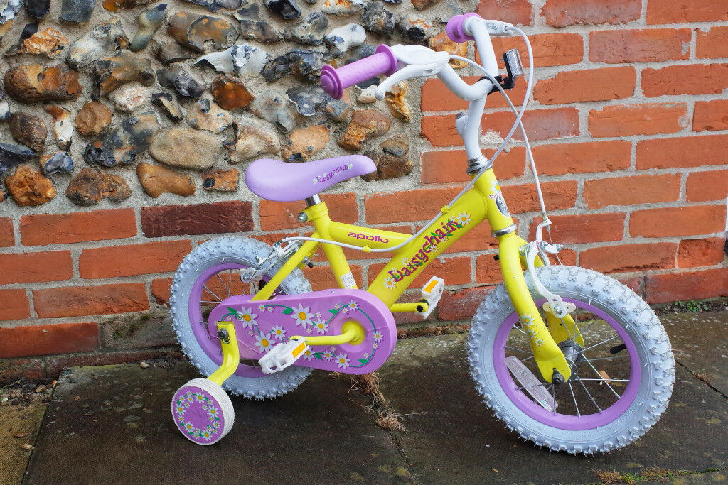 Girls Bike. Apollo Daisy Chain 12. From Halfords, great condition.