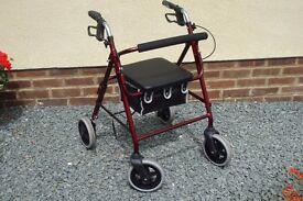 4 Wheel Roma Lightweight Medical Walker