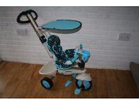 Blue Smart Trike 4 in 1