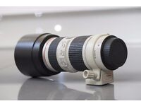 Canon EF 70-200mm F/4.0 L IS USM Lens Excellent condition with B&W filter