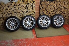 "Genuine BMW 1 Series 17"" Y-Spoke 380 Alloys and Winter Tyres"