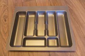 Plastic grey cutlery tray (430mm x 530mm x 48mm) Brand New
