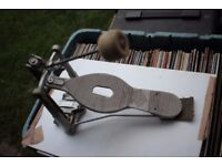 ASBA single bass drum pedal - France - Vintage strap drive