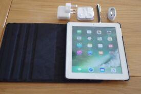 Apple iPad 4 4th Generation 16GB Wi-Fi & Celular unlocked 9.7in A1460 bundle