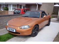 Mazda MX5 Mark 2 - 1800 limited edition (S) Gold with Leather Interior