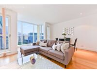 E14 CANARY WHARF LEXURY 2 BEDROOM APARTMENT RIVERSIDE WITH AMAZING RIVER VIEW CLOSE TO STATION