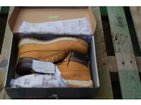New Size 10, Steel Toe cap, Tom Cat Boots (Tan)