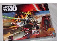 "STAR WARS Ep7 The Force Awakens DESERT LANDSPEEDER VEHICLE + Special Edition 3.75"" FINN Figure NEW"