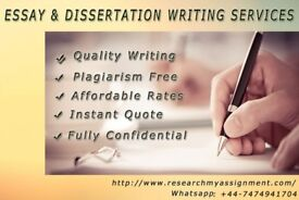 100% UK based Tutor/Help with your Dissertation,Essay,Assignment,SPSS,Coursework,Writer PhD MBA Law