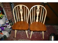 2 Wooden chairs - free to a good home