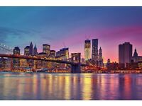 1 return flight ticket London- New York, 25 Dec- 4 Jan