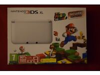 Nintendo 3DS XL - White - Super Mario 3D Land Pre installed - Barely Used