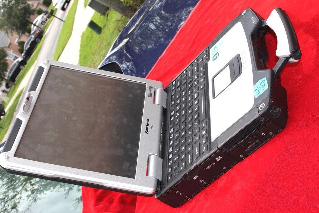 BLACK VINYLPanasonic Toughbook CF-31 2.27GHz i3/ 4GB /256 SSD/ WIN7 PRO 32BIT/