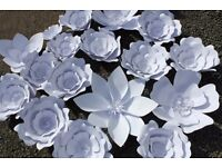 Job Lot 19 Large Paper Flowers - Wedding/Party/Interior Decorations