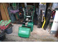 Qualcast Suffolk Punch 35S Cylinder Lawn Mower + scarifier attachment