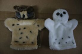 Owl Glove Puppets - 5 different ones available - unsold stock so new condition.