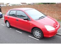 2002 Honda Civic 1.4S. mot recently expired. for spares or parts