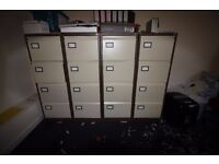 Filing Cabinets - 5ft high with 4 drawers