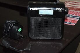 PURE MINI DAB RADIO/DABANTENNA/RECHARGEABLE BATTERYPACK/POWER ADAP