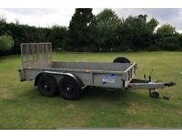 IFOR WILLIAMS 3.5 TONNE PLANT TRAILER 12'X6' WITH TAIL RAMP 16 WHEELS 10 PLY MICHELIN TYRES