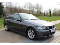 LHD LEFT HAND DRIVE BMW 318D CORPORATE LEASE 2008 GREY LEATHER ESTATE WARRANTY PART EXCHANGE WELCOME